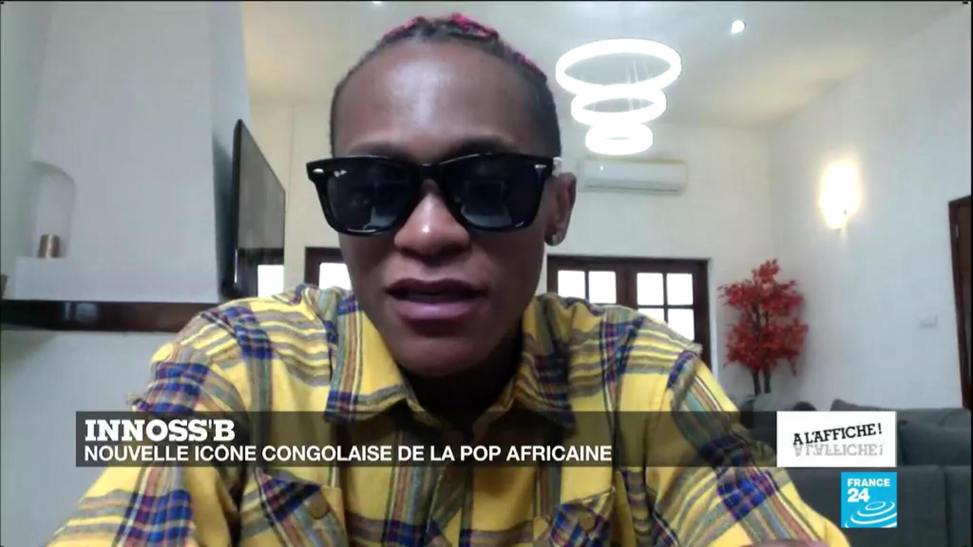 La star congolaise Innoss'B, en août 2020 sur France 24