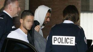 """Karim Benzema, mis en examen dans le cadre de l'enquête sur le chantage présumé à la """"sextape"""" contre Mathieu Valbuena."""