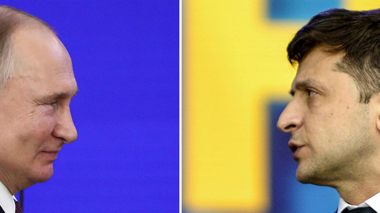 Putin vs Zelensky: two very different presidents face off