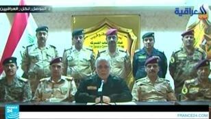 لحظة إعلان إطلاق معركة استعادة الموصل  16 تشرين الأول/أكتوبر 2016.