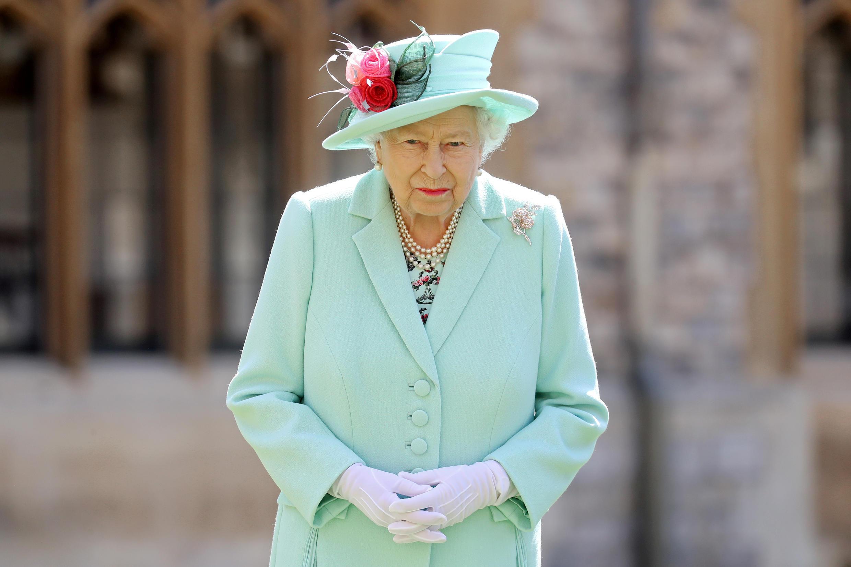 La reine Elizabeth II, le 17 juillet 2020, au château de Windsor.