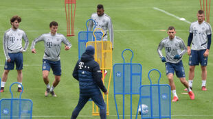 On course: German clubs such as Bayern Munich are preparing to kick off on May 16