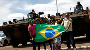 Fuerzas de seguridad presentes en Brasilia para la posesión del presidente electo Jair Bolsonaro. 30 de diciembre.