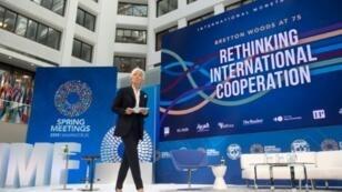 Christine Lagarde, directrice générale du FMI depuis 2011, le 10 avril 2019 à Washington