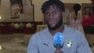 Franck Kessié, milieu de terrain de la Côte d'Ivoire, au micro de France 24.