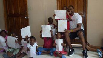 "Samyr Lainé en Haïti pour son association ""Jump for Haiti"""