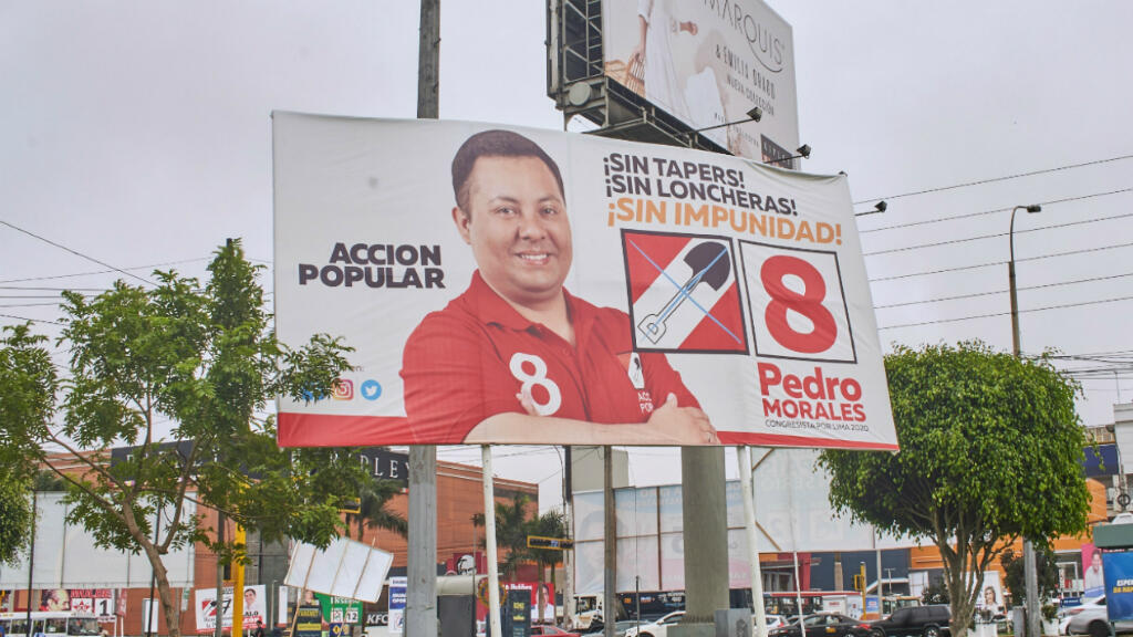El candidato al Congreso Pedro Morales es uno de los aspirantes del partido político Acción Popular que podría fortalecerse en las elecciones legislativas de Perú. Lima, enero 2020.
