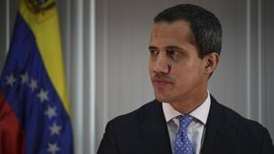 Juan Guaidó durante la entrevista con la agencia AFP el 6 de mayo de 2019 en Caracas.