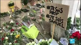2020-10-18 12:01 France rallies in dozens of cities after beheading of teacher Samuel Paty in Paris suburb