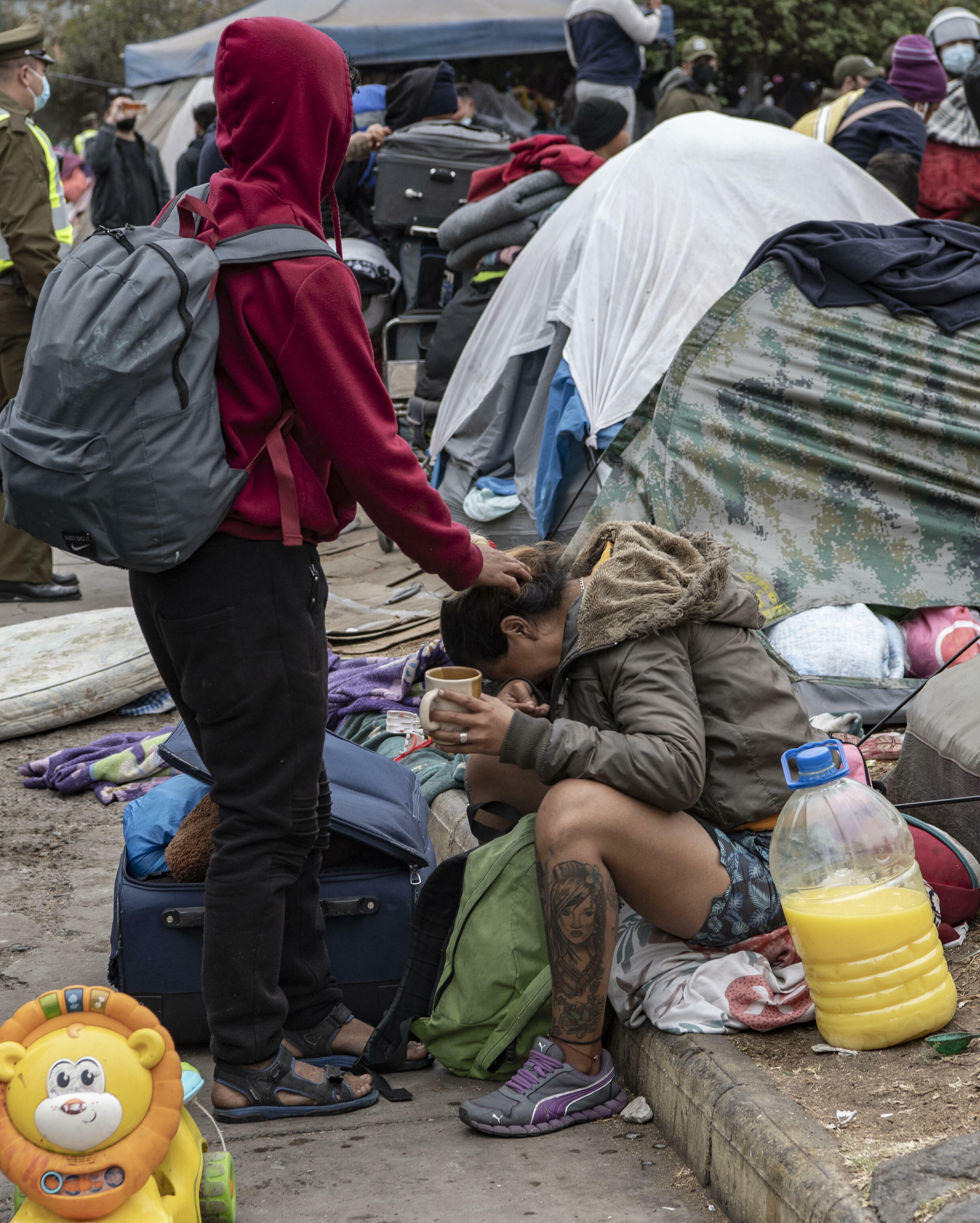 El desalojo se produce antes de una marcha prevista en la ciudad contra los inmigrantes indocumentados