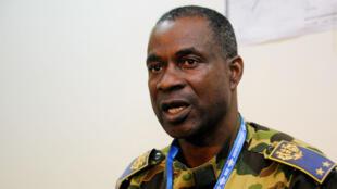 Le général Gilbert Diendéré, en juillet 2014, alors qu'il était à la tête du Régiment de sécurité présidentielle de Blaise Compaoré.