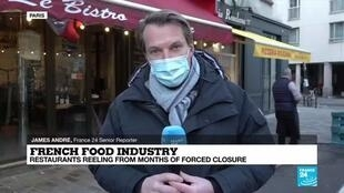 2021-01-08 09:09 French food industry during pandemic: Restaurants reeling from months of forced closure