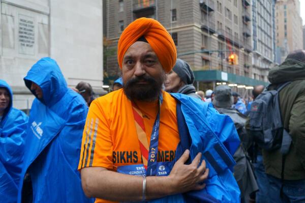 """Satnam Singh Parhar : """"Je cours parce que c'est bon pour la santé et aussi parce que je veux représenter ma communauté."""""""