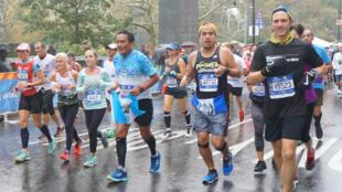 Des coureurs du marathon de New York, le 5 novembre 2017.