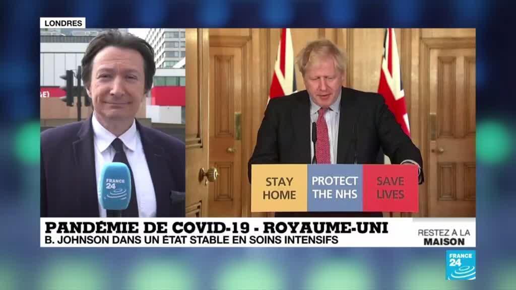 2020-04-08 16:08 Covid-19 au Royaume-Uni : Bojo stable, en soins intensifs pour la deuxième journée