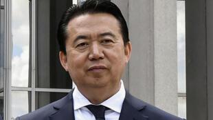 El presidente de la Interpol, el chino Meng Hongwei, en las instalaciones en Lyon, Francia. Archivo.