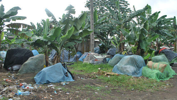 Mounds of plastic belonging to individual waste pickers at Abobo-Baoulé, Abidjan.