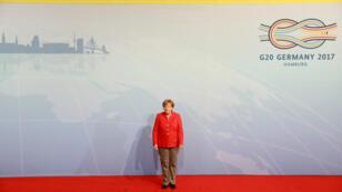 La chancelière allemande Angela Merkel est l'hôte du G20 qui se tient les 7 et 8 juillet 2017 à Hambourg.
