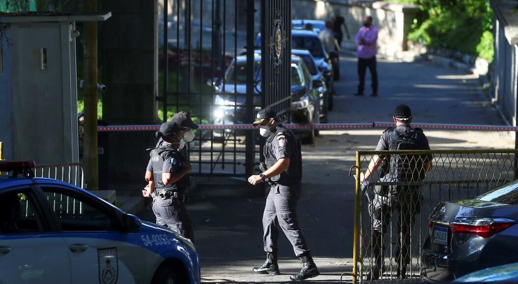 La policía realiza un allanamiento en la residencia oficial del gobernador, Wilson Witzel, involucrado en presunta corrupción durante la crisis del Covid-19. En Río de Janeiro, Brasil, el 26 de mayo de 2020.