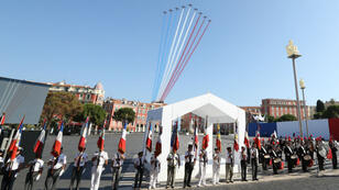 Une cérémonie a été organisée vendredi 14 juillet 2017 à Nice en hommage aux victimes de l'attentat de juillet 2016.