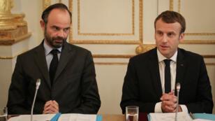 Édouard Philippe et Emmanuel Macron, le 30 octobre 2017, à l'Élysée.
