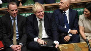 Britain's Prime Minister Boris Johnson and his party attend the debate on the Queen's Speech in the House of Commons, London, Britain December 19, 2019.