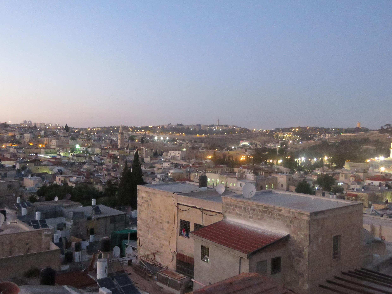 أسطح المنازل والبنايات القديمة في القدس