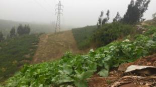 Las montañas cercanas a Valparaíso se han convertido en botaderos ilegales de desechos plásticos en Chile. Septiembre 14 de 2018.
