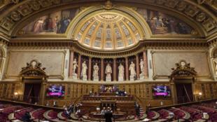 L'hémicycle du Palais du Luxembourg, le 17novembre2016 à Paris.