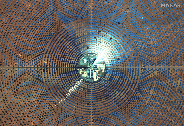 صورة وفرتها ماكسار تكنولوجيز في 20 أيار/مايو 2021 تظهر مجمع نور للطاقة الشمسية في المغرب