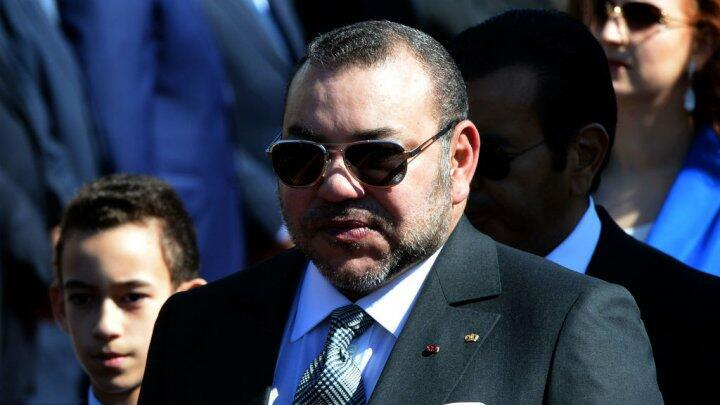 العاهل المغربي الملك محمد السادس في 11 آذار/مارس 2015
