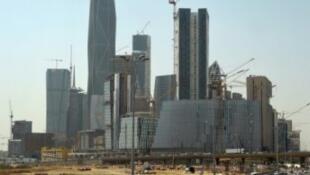 أبراج قيد الإنشاء في الرياض، 9 آذار/مارس 2016.