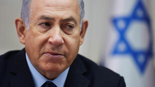 Le Premier ministre israélien Benjamin Netanyahou, lors de la réunion hebdomadaire de son cabinet à Jérusalem, le 28 octobre 2018.