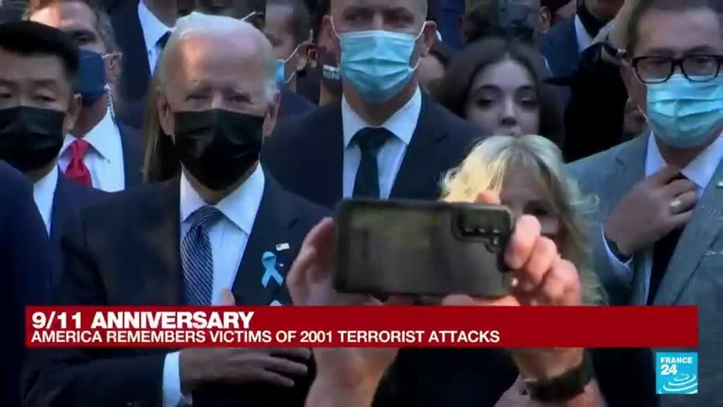 2021-09-11 14:43 New York ceremony to mark 20th anniversary of 9/11 attacks begins