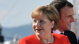 Angela Merkel et Emmanuel Macron en Italie en juillet 2017 lors du sommet sur les Balkans occidentaux.
