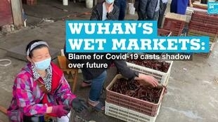A wet market in Wuhan, China, on April 15, 2020.
