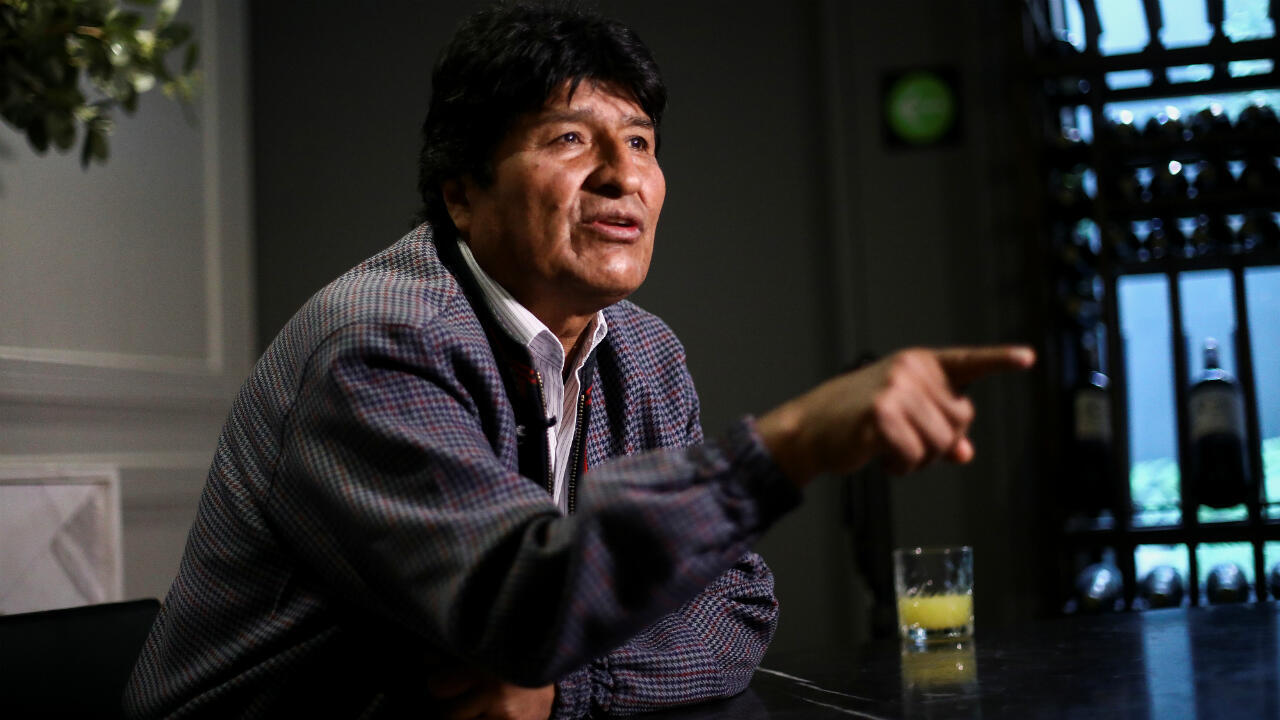 Evo Morales accorde une interview, à Mexico, le 15 novembre 2019.