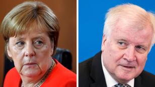 La chancelière allemande, Angela Merkel, et son ministre de l'Intérieur, Horst Seehofer, sont en désaccord sur la question des migrants.