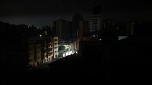La capital venezolana se quedó a oscuras en este nuevo apagón