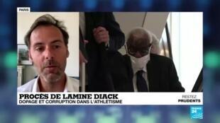 2020-06-08 14:22 France : ouverture à Paris du procès de l'ex-patron de l'athlétisme Lamine Diack