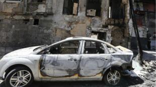 Un attentat-suicide a fait plusieurs victimes place Tahrir, à Damas, en Syrie.
