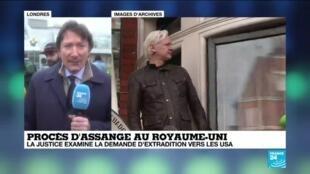 2020-02-24 11:06 Procès de J. Assange au Royaume-Uni : la justice examine la demande d'extradition vers les USA