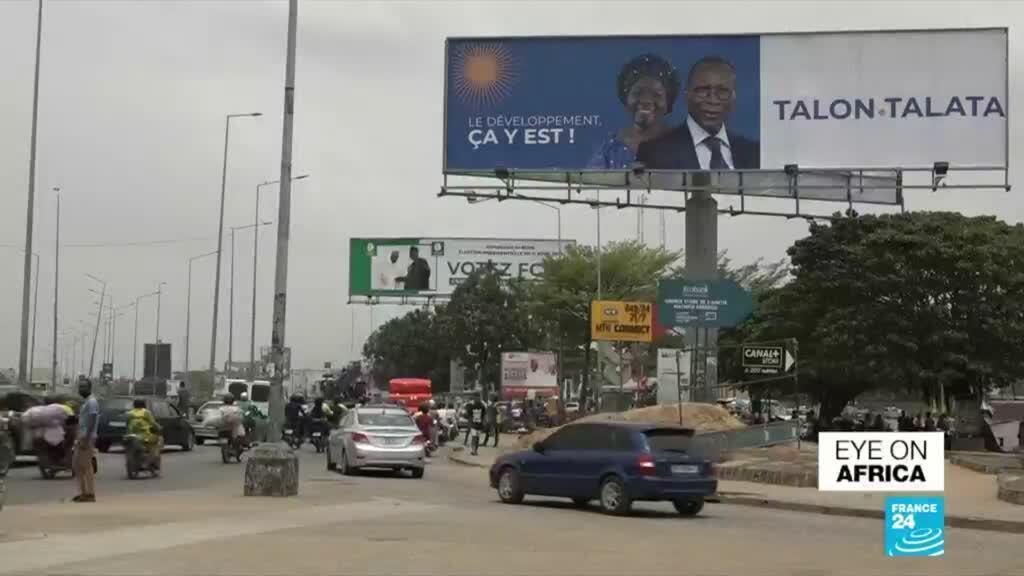 Election billboards ahead of Sunday's presidential vote in Benin.