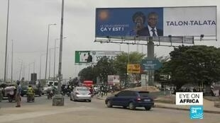 Election billboards ahead of Sunday's presidential vote in Benin.