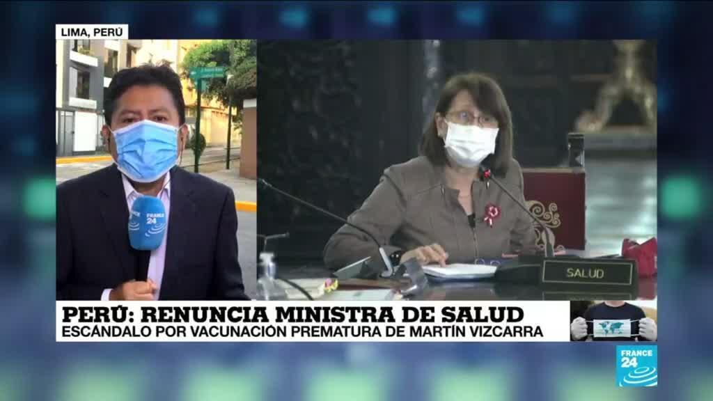 2021-02-13 13:38 Informe desde Lima: renunció ministra de salud por escándalo de vacunación
