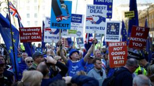 Decenas de manifestaciones se han registrado en Reino Unido en contra, y a favor, del divorcio con la Unión Europea.