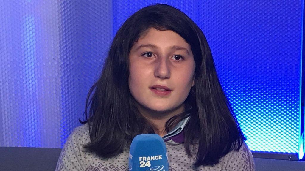 """Myriam Rawick vit toujours à Alep. Elle était de passage à Paris pour la promotion du livre """"Le Journal de Myriam""""."""