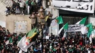 مظاهرة مناهضة للرئيس بوتفليقة في العاصمة الجزائرية - 22 مارس/ آذار 2019