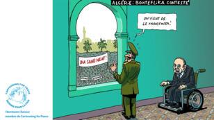 Le dessinateur suisse Herrmann se moque du quiproquo permanent entre le pouvoir politique algérien et les manifestants.