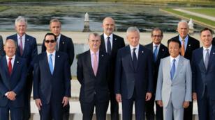 Les ministres des Finances du G7 réunis à Chantilly, le 17 juillet 2019.